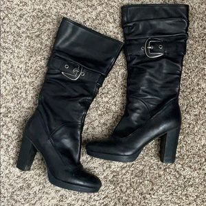 Nine West heeled boot with Buckle detail